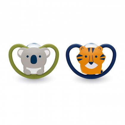 NUK Space Orthodontic Pacifiers / Soother Koala Tiger (2 pcs)