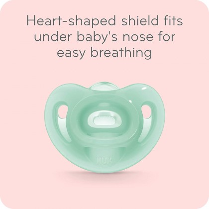 NUK Sensitive Orthodontic Pacifiers / Soother Girl 6-18Months (Single Pack)