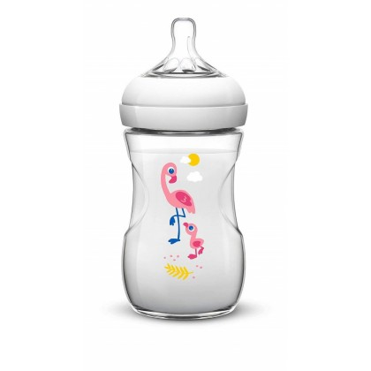 Philips AVENT Natural 260ml (9oz) Decoreted (Flamingo)