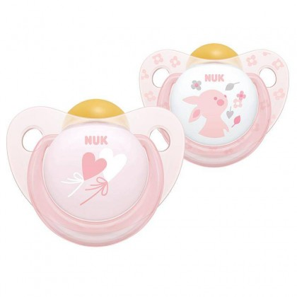NUK Design (6-18Month) Latex Soother Twin Pack Boy & Girl