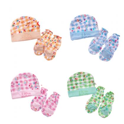 Beeson Newborn Baby Mitten 3in1 Combo Gift Set Cotton Infant ( Mitten+Booties+ Hat) C-10557