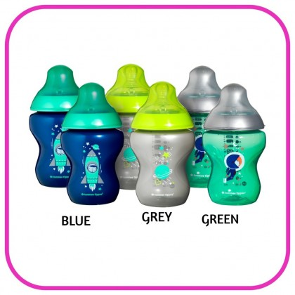 Tommee Tippee 260ml (9oz) Closer to Nature BOLDLY GO BOY/GIRL Design (Loose)