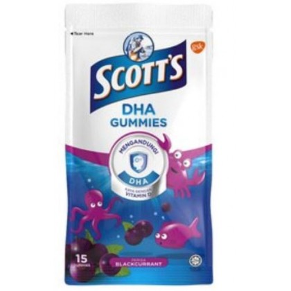 Scott's DHA Gummies Orange/Strawberry/Blackcurrant/Assorted (15's/60's)