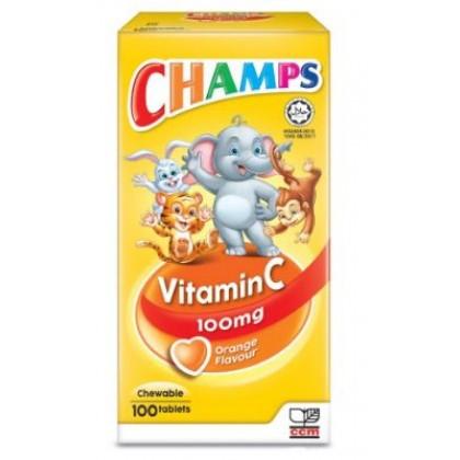 CHAMPS Vitamin C 100mg Orange/Grape 100s