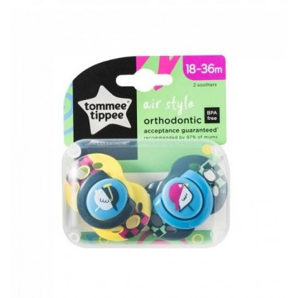 Tommee Tippee Closer to Nature AIR Style Soother with 18-36m 2pcs/pack
