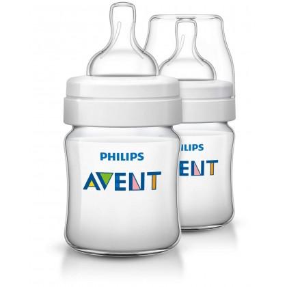 Philips AVENT Classic + 125ml (4oz) Newborn Flow Teats (0m+)