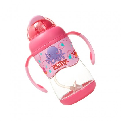 NUBY Active Sipeez 360 Tritan Flit It with Weighted Straw 400ml (13oz) Pink