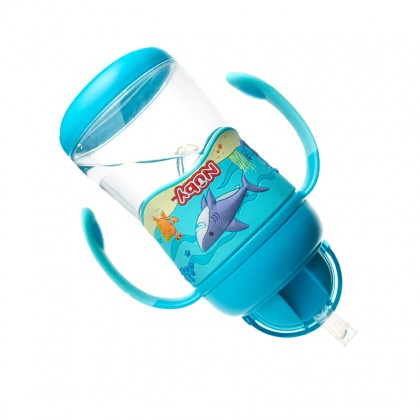 NUBY Active Sipeez 360 Tritan Flit It with Weighted Straw 400ml (13oz) Blue