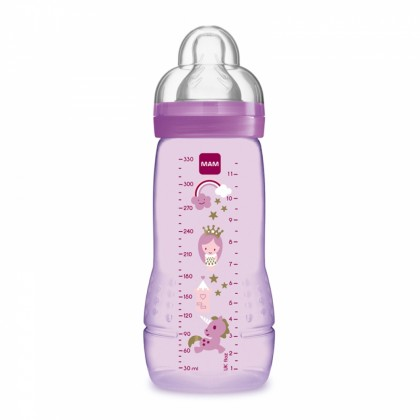 MAM Easy Active Baby Bottle 330ml (11oz) with Teat 3hole 4m+ (Purple)